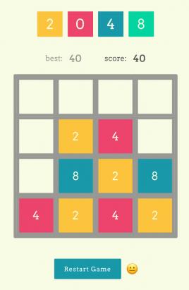 响应式的html5制作数字方块2048小游戏源码