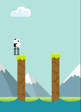 手机熊猫弹跳体育类小游戏源码