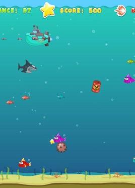 深海狂鲨大鱼吃小鱼冒险游戏源码,需部署到服务器才可运行