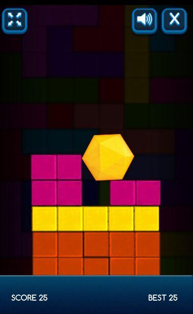 有趣的六边形坠落游戏源码