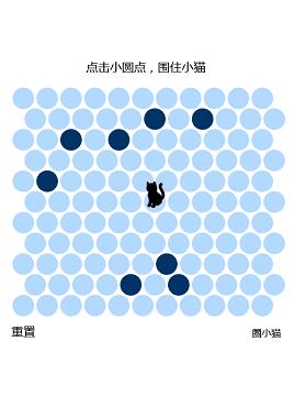 有趣的仿神经猫html5圈小猫游戏源码