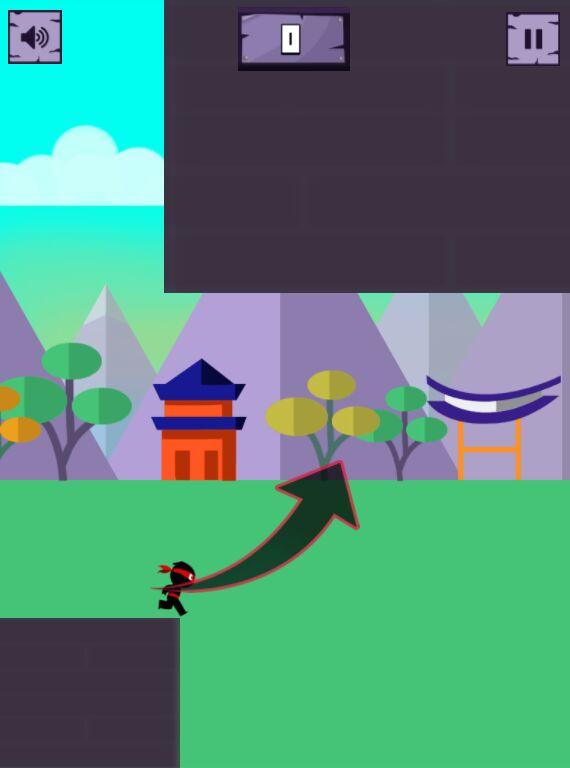 有趣的忍者跑酷小游戏源码