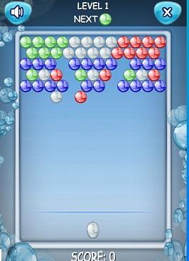 简单的泡泡龙小游戏源码