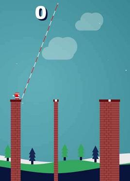 有趣的圣诞老人跨越悬崖小游戏源码