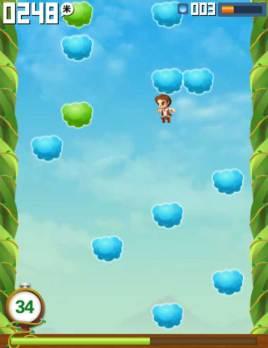 有趣的跳高踩云彩游戏源码
