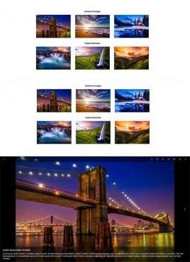 大气的图片画廊插件弹出层全屏幻灯片切换效果