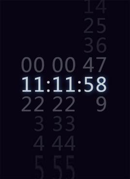 个性创意的渐进数字时钟特效