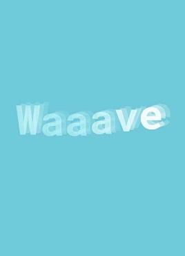创意的3D波浪动画文字特效