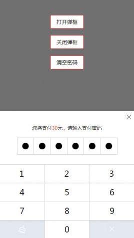 简洁的手机移动端仿支付宝密码输入特效