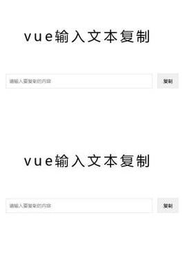 实用的vue输入框文本内容复制特效