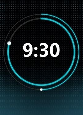黑色的圆形科技时钟特效