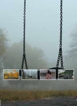 创意的秋千的图片视频切换特效