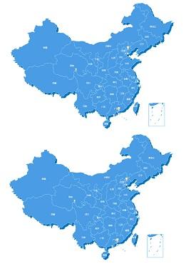 基于echarts实现的echarts中国地图和省份地图位置信息标注特效