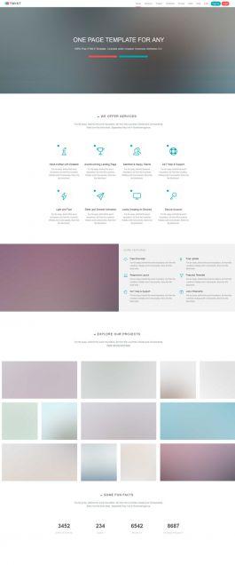 响应式单页滚动式CSS3HTML5模板