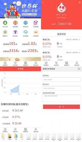 手机移动端app金融理财投资服务公司手机网站模板