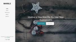 响应式的设计师作品展示博客模板