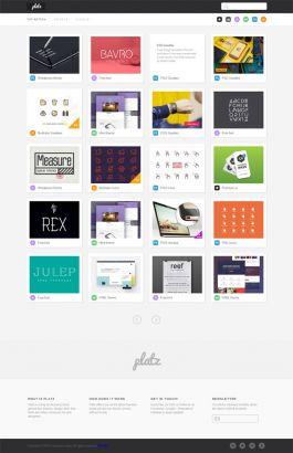 响应式的设计师作品素材网站模板