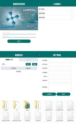 简洁的手机移动端移动端资产数据采集页面模板