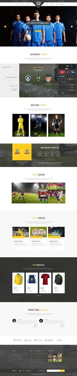 响应式的足球体育用品电商网站html模板
