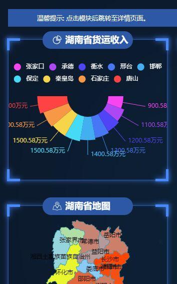 蓝色的物流大数据页面模板