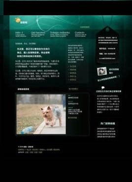 黑色的个人宠物网站页面模板