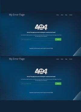 科技感十足的响应式科技感404页面模板
