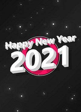 基于css3实现的新年快乐星星闪烁背景动画专题页面模板