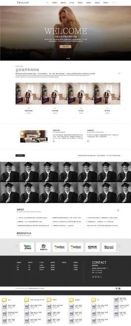 响应式的写真摄影工作室网站模板