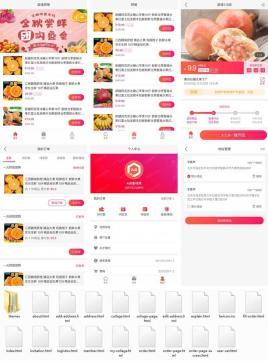 手机端商城拼团app界面模板