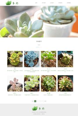 简单的植物养殖厂家公司网站模板