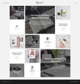 创意的网格布局个人网站模板